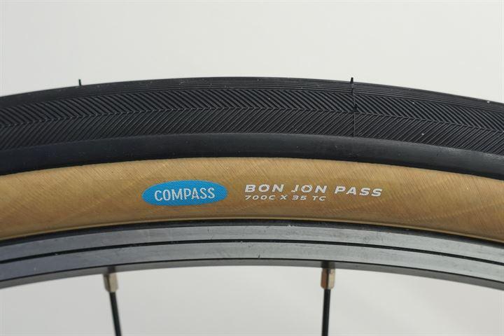 Compass Bon Jon Pass Touring/E-Bike on a rolling resistance test machine