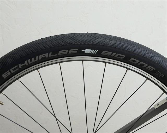 Schwalbe Big One LiteSkin PaceStar  mountain bike tire on a rolling resistance test machine
