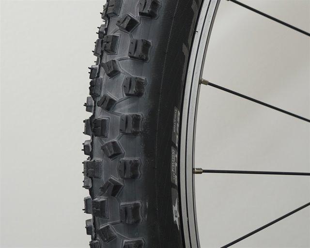 Schwalbe Hans Dampf PaceStar  mountain bike tire on a rolling resistance test machine