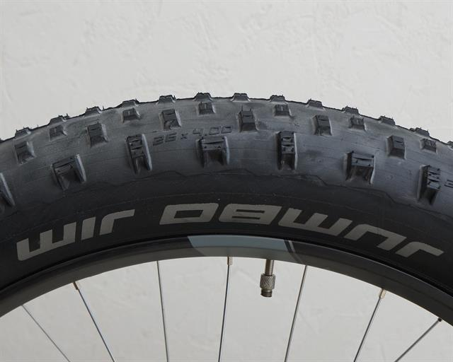 Schwalbe Jumbo Jim LiteSkin PaceStar  fat bike tire on a rolling resistance test machine