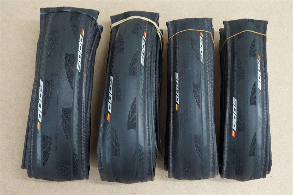 PAIR 2 CONTINENTAL Grand Prix GP 5000 Clincher 700c x 23 TIRES 60 mm INNER TUBES