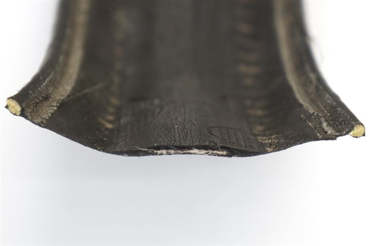 Worn Continental Grand Prix 4000S II - View of inside of tire after cutting in half