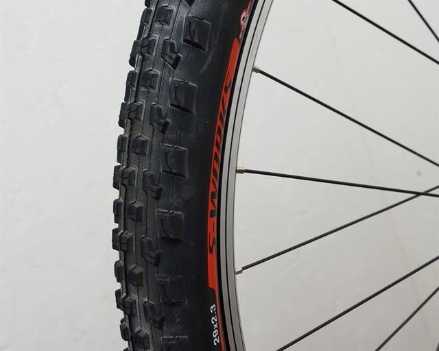 Specialized S-Works Ground Control  mountain bike tire on a rolling resistance test machine