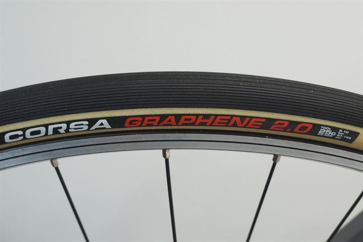 Skinwall//Black Vittoria CORSA G2.0 GRAPHENE Tubular Tire 700x28C